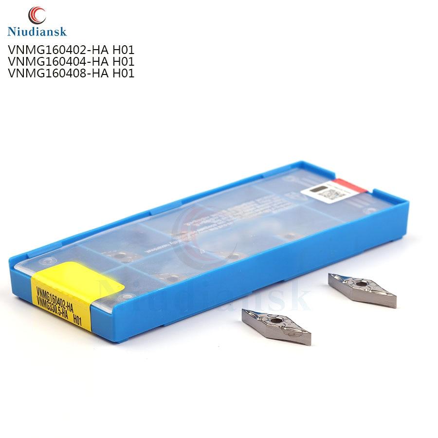 100%, VNMG160402 HA H01 VNMG160404 VNMG160408 HA H01, insertos de carburo de aluminio de alta calidad, herramienta de torno de CNC