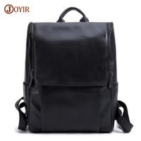 JOYIR Genuine Leather Men Backpack Fashion Causal 15 Laptop Backpack Vintage Business Travel Bags For Men Daypacks Mochila Male