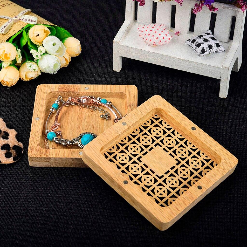 Caja de almacenamiento de madera pequeña multifunción, caja de regalo para el hogar, artículos pequeños de joyería de cambio práctico, cajas de almacenamiento G
