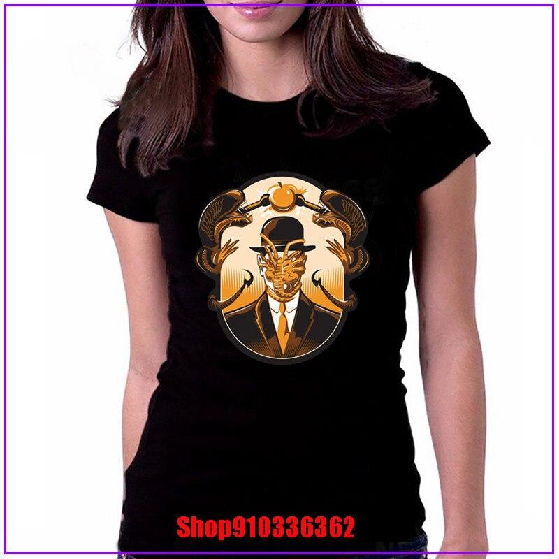 2020 moda quente rebelde padrão estrangeiro xenomorph t camisas das mulheres david bowie design estrangeiro camiseta personalizado mangas curtas 2020