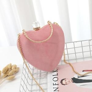 Pink Heart Bag Purse Crossbody With Diamond Purses And Handbag Luxury Designer Shoulder Messenger Bags For Women Evening Party