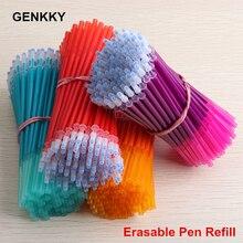 Ensemble de stylos Gel de bureau, 5/8/12 tiges de recharge, effaçables, poignées, 0.5mm, encre bleu noir vert, papeterie scolaire pour écriture