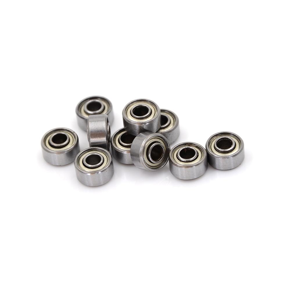10 шт./лот новые маленькие Миниатюрные шарикоподшипники 693ZZ, двухэкранированные миниатюрные металлические стальные подшипники 3*8*4 мм