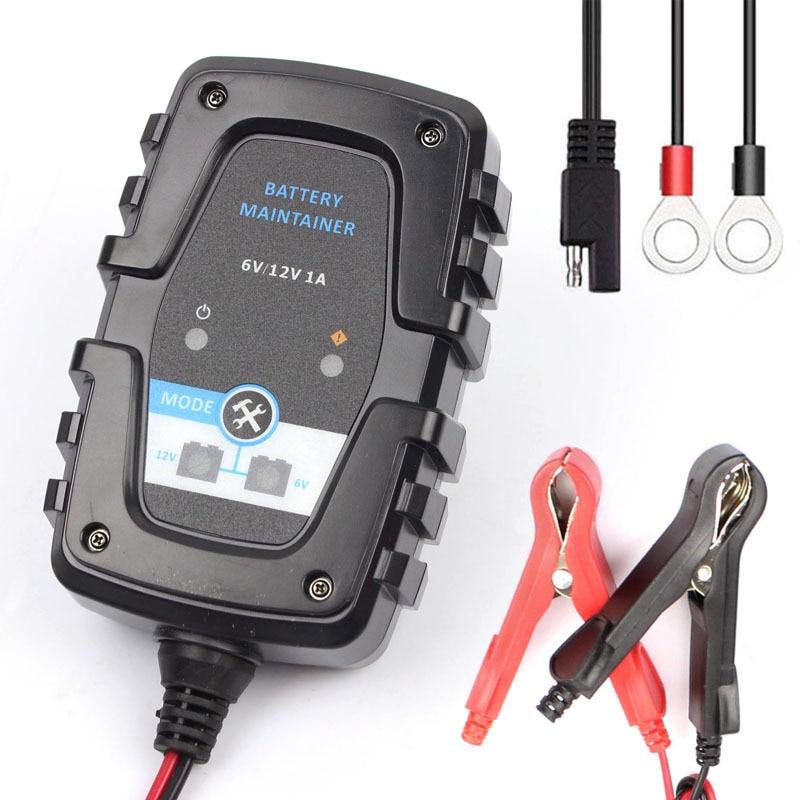 6V 12V 0.75A 750mA, cargador de batería automático inteligente, mantenimiento de batería para motocicleta, coche, Scooter de ciclo profundo AGM, batería de GEL VRLA, cargador