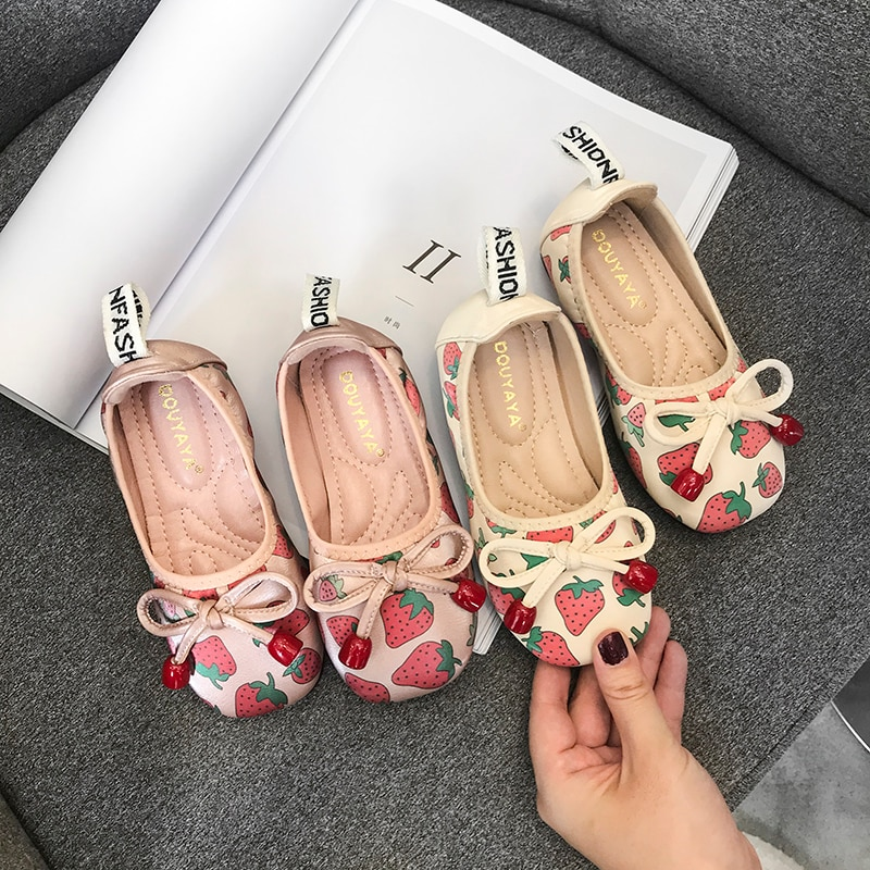 Princess Shoes Spring & Autumn Girls Shoes Baby 2020 New Small Leather Shoes Soft Sole Peas Shoes 4-12 Years Old Kids Shoes enlarge