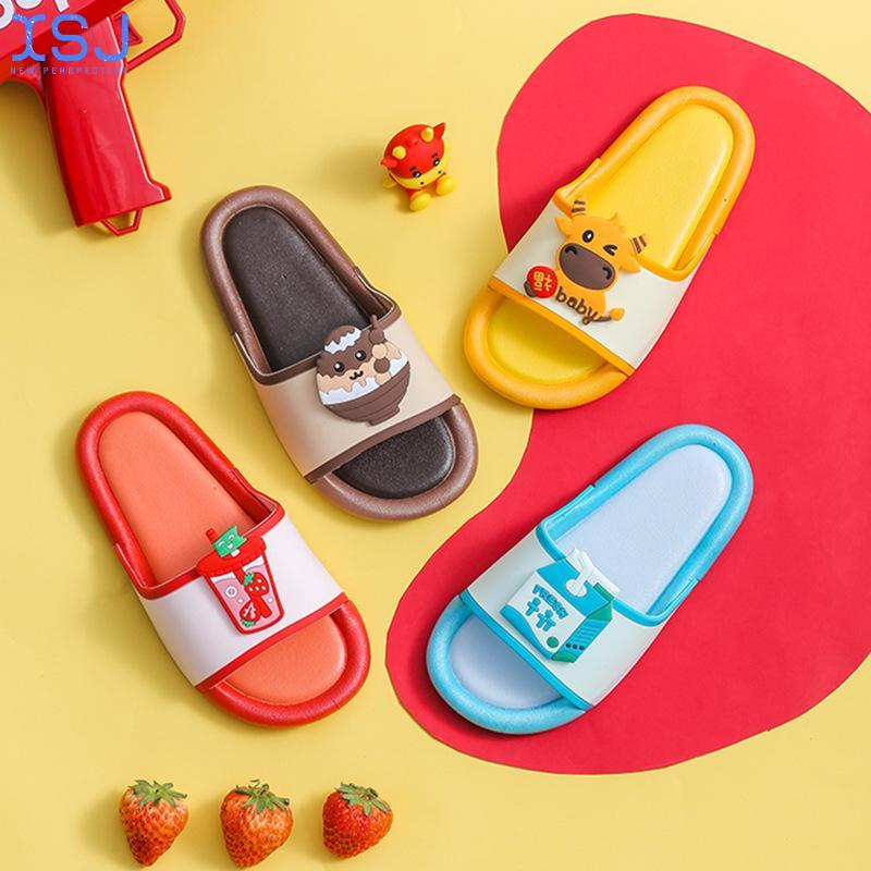 Детская обувь, утолщенная мягкая подошва, домашняя обувь, Мультяшные фу ню Тапочки, Детские Тапочки для ванной, детские Тапочки