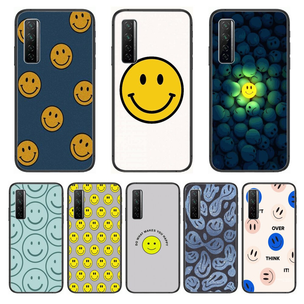 Smile face Fashion Matte  Phone Case For Huawei Nova p10 lite 7 6 5 4 3 Pro i p Smart ZBlack Etui 3D Coque Painting Hoesje