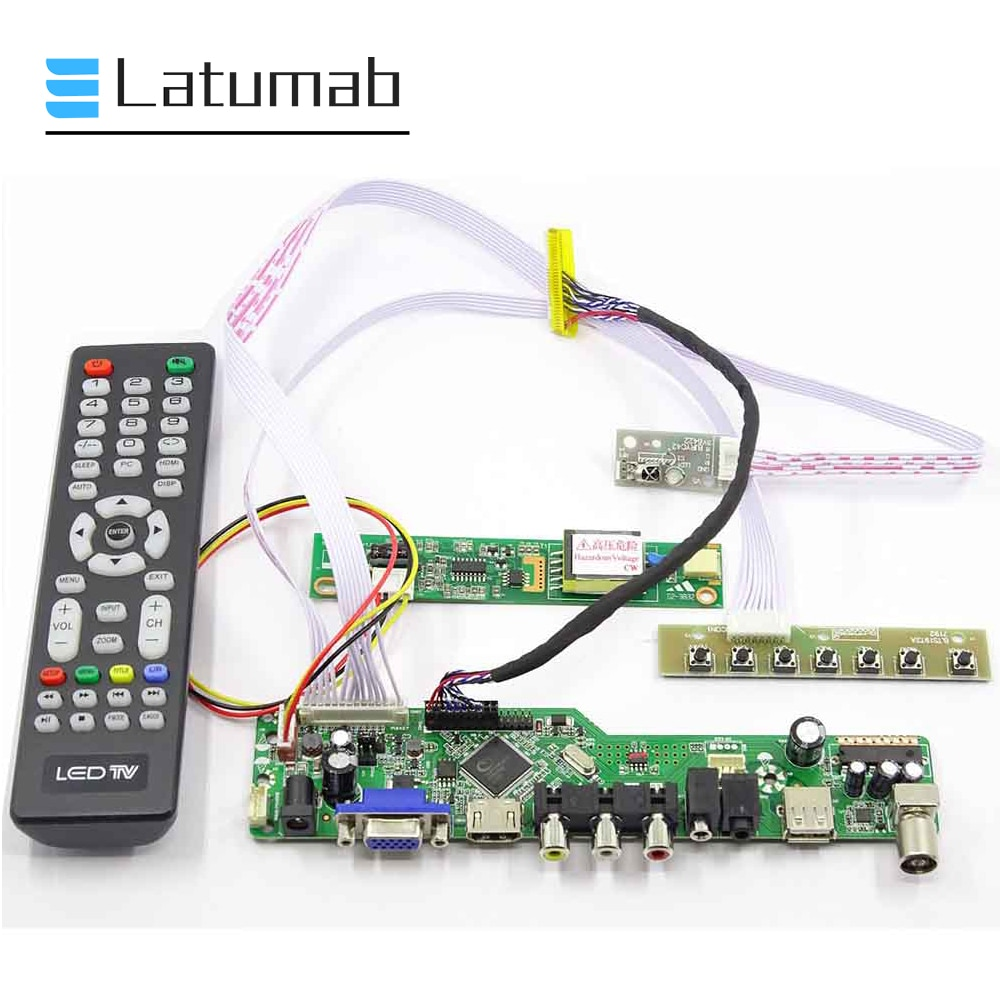 Latumab-لوحة قيادة ريموت الشاشة ، طقم لتلفزيون HT141WXB HDMI VGA USB LCD LED ، شحن مجاني