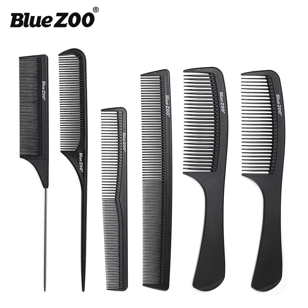 Peine Profesional de fibra de carbono para salón de belleza, peine de...