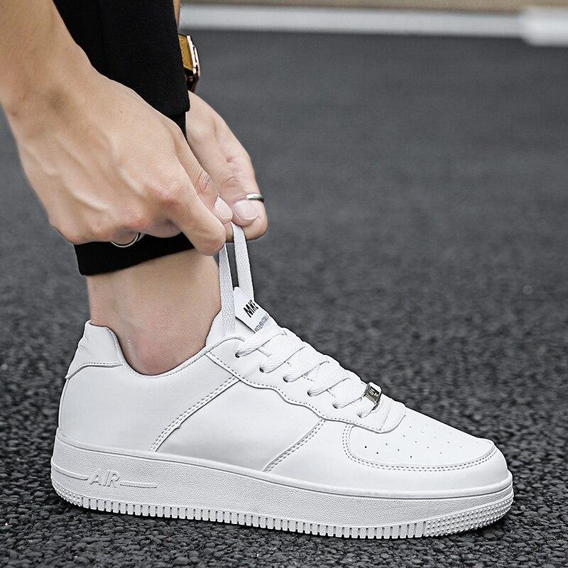 Spring Men Platform Shoes White Sneakers Men Casual Couple Shoes Male Outdoor Walking Flat Footwear 2019 Tenis Masculino Adulto