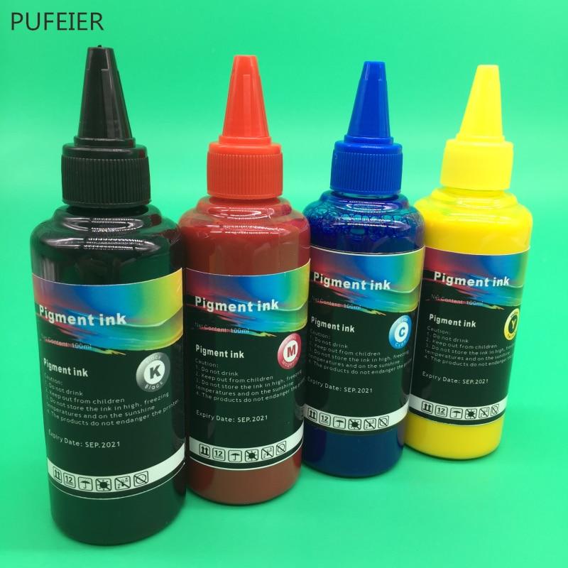 4 бутылки x 100 мл T9461 T9441-T9444 T9451-T9454 пигментные чернила для принтера Epson WorkForce Pro WF-C5290 WF-C5790 WF-C5210 WF-C5710
