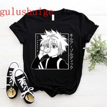 Kawaii Hunter X Hunter T Shirt Men Funny Tops Hisoka MOROW Graphic Tees Harajuku Unisex Anime Killua Zoldyck T-shirt Male Tshirt