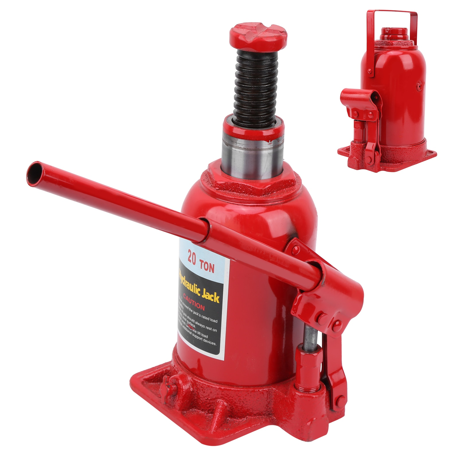 20 Ton Hydraulic Bottle Jacks 0-205mm Lifting Jack for Automotive Construction Industrial Agricultural