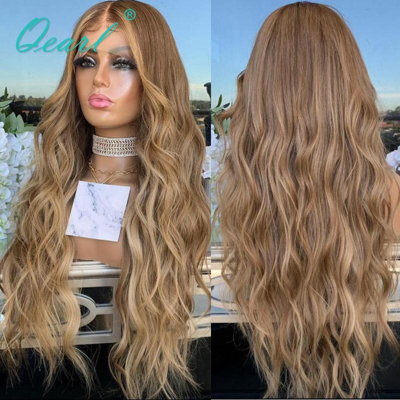 Human Hair Lace Front Wig 13x4/13x6 Peruvian Remy Hair Caramel Blonde Balayage Natural Wave Wigs for Women 150% Glueless Qearl