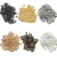 100-500pcs/lot jewelry findings and components Ball Plunger metal Accessory Smooth Ball Crimps Beads