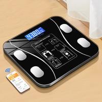 Весы для определения жира в теле, умный беспроводной цифровой прибор, Bluetooth, ИМТ, взвешивание в ванной, анализатор состава тела