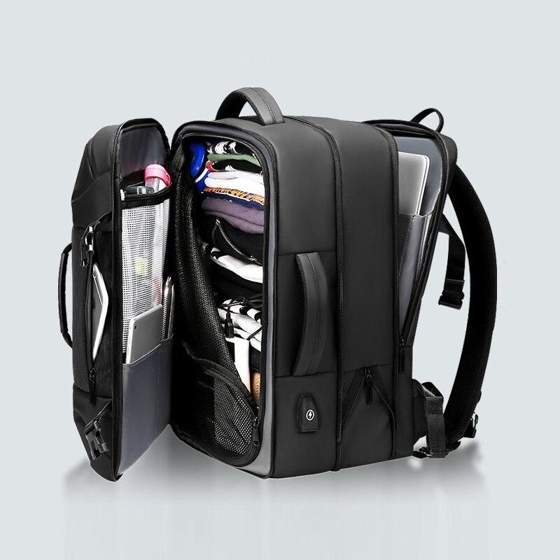 حقيبة ظهر مضادة للماء للكمبيوتر المحمول للرجال مقاس 17 17.3 بوصة بسعة كبيرة متعددة الوظائف مناسبة للسفر والعمل والعمل