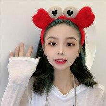 Korean Cute Face Wash Headband Internet Celebrity Crab Headband Cartoon Headband Headdress Makeup Ma