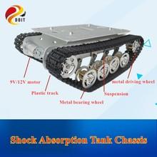 DOIT TS100 métal Rc Robot réservoir voiture châssis Absorption des chocs voiture avec système de Suspension chenille pour Arduino bricolage jouet