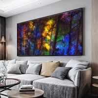 large size colorful forest trees canvas poster art prints for living room decorative picture modern home