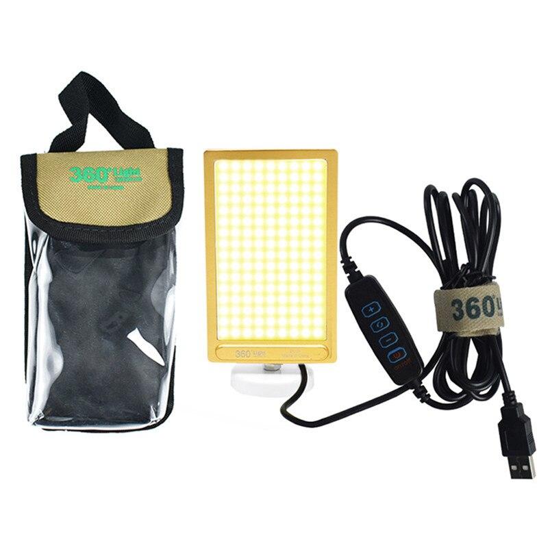 Panel de luz LED de 20W con interfaz USB, regulable de doble color COB, foco para tienda de luz todoterreno, reparación de coches, base magnética, luz de trabajo