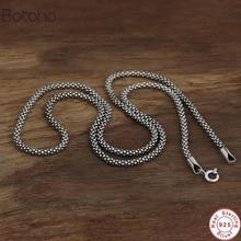 100% S925 argent sterling hommes et femmes rétro Thai argent sauvage 3mm épaisseur maïs collier Thai argent style saint valentin présent