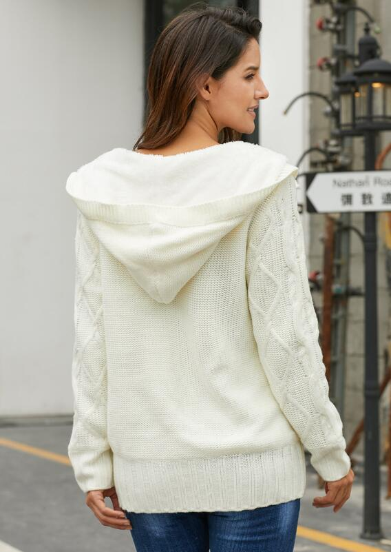 New Single Breasted Cotton Sweater Coat For Women Different Color enlarge