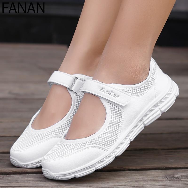 Новинка, женская обувь на плоской подошве, сверхлегкая сетчатая обувь, мягкие спортивные туфли, женская повседневная обувь, женская обувь, в...