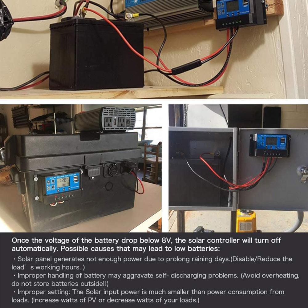 pwm controlador solar 5v 12a casa dupla usb controlador solar pwm controlador 12