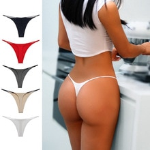 Morna Sexy Women's Thong Thin Strap Underwear Sports Solid Low Rise Swimming Trunks G-string Ladies