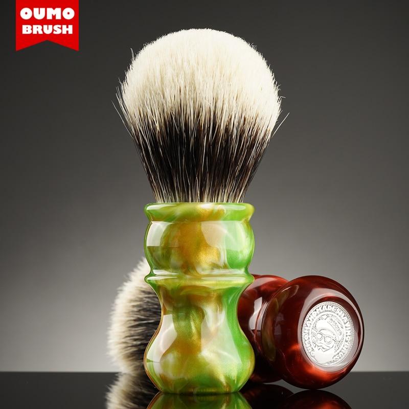 OUMO BRUSH -Yellowstone Venus badger shaving brush with Manchuria/ACE/SILK/HOOK/WT