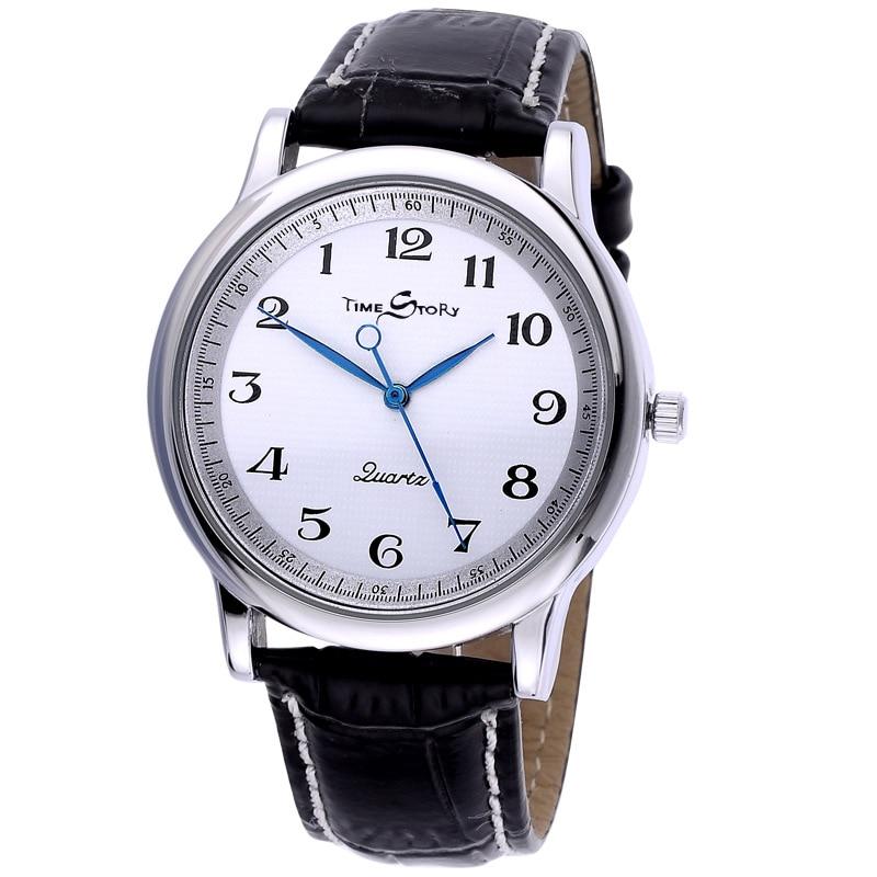Men Quartz Watch Counterclockwise Backward Scale Oil Embossing Dial Waterproof Reverse Watch Leather