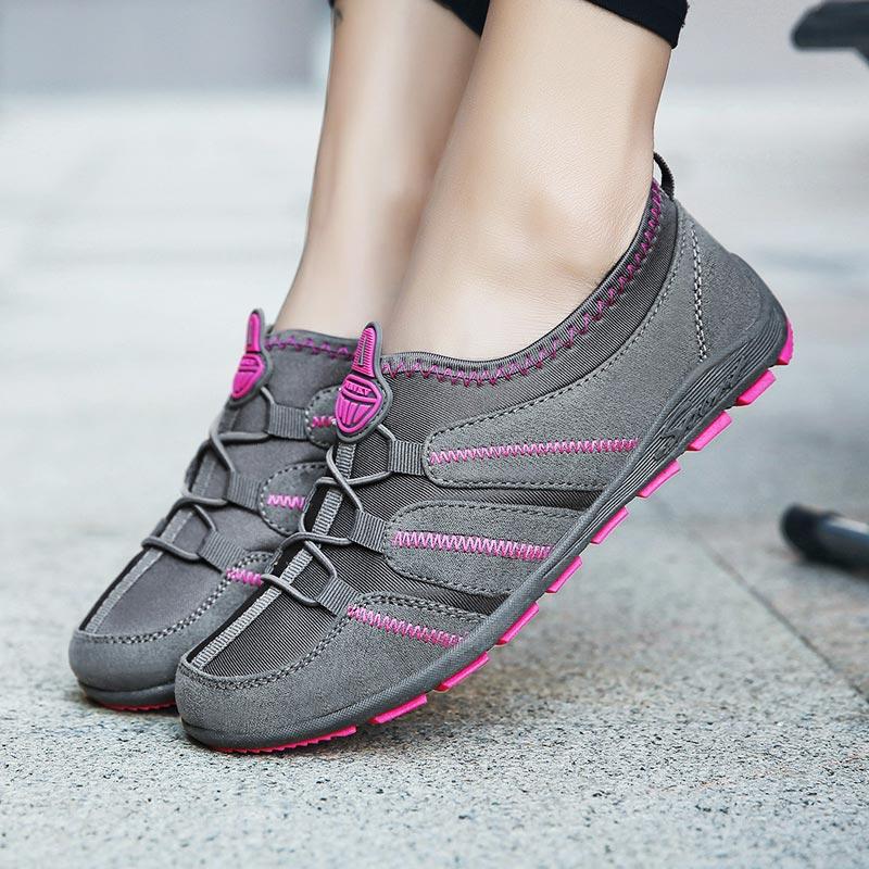 ALIUPS de verano Slip-sobre las mujeres corriendo zapatos transpirables deporte deportivas de Deporte Zapatos Señora zapatos directo Femme negro Formación de Formadores