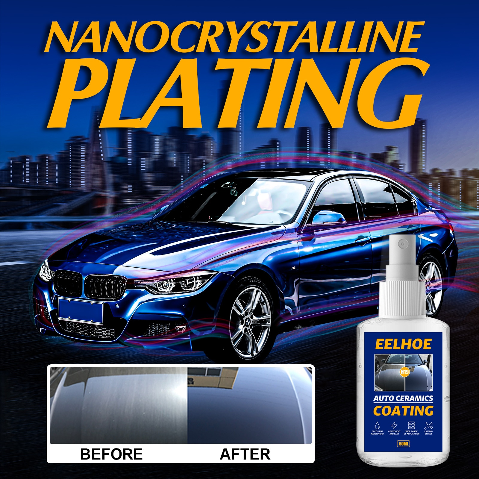 Automotive Crystal-plated Spray Refurbishment Car Paint Coating Spray Surface Water-drive Wax Water Automotive Supplies