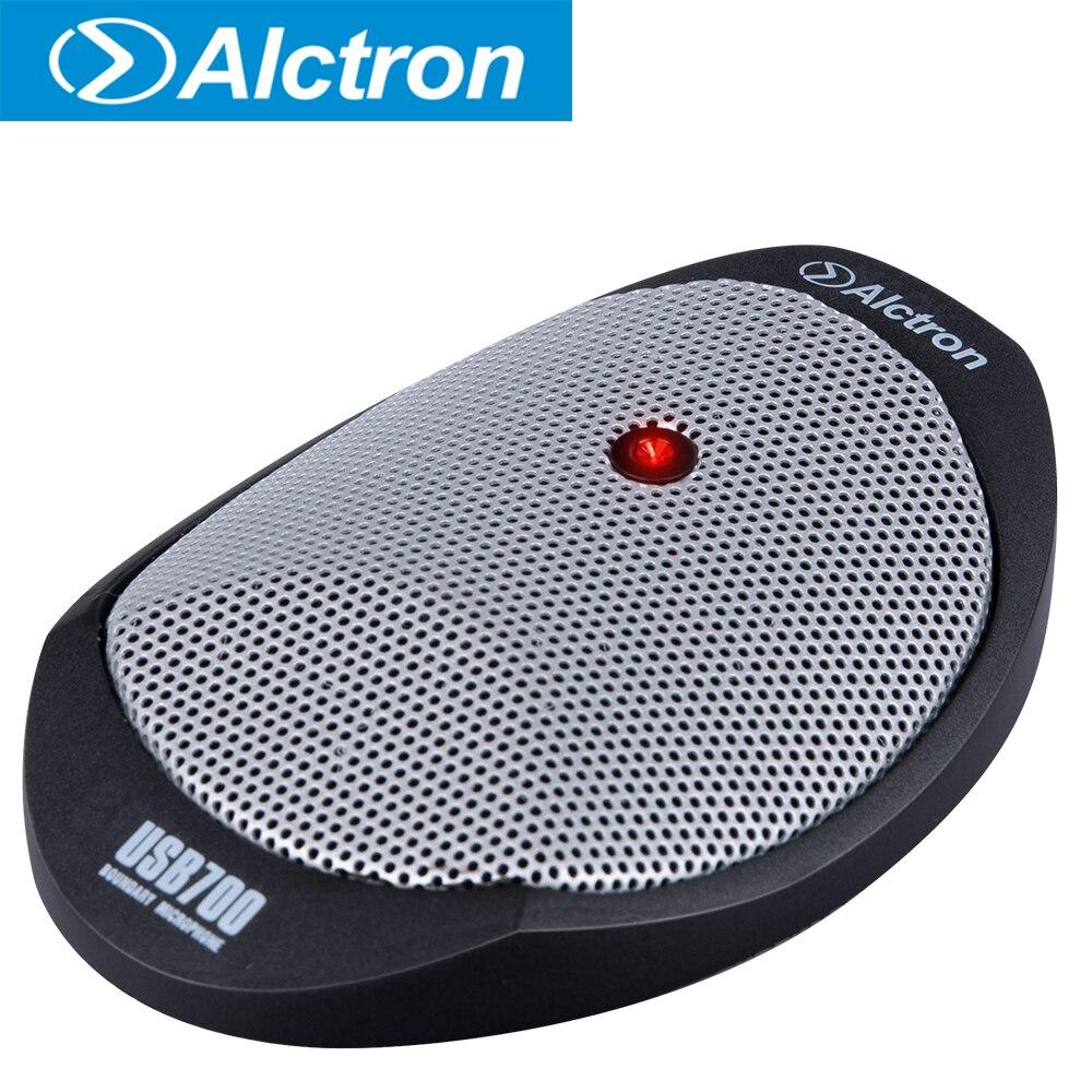 Alctron usb700 limite usb condensador mic projetado para conferência, discurso etc, minúsculo e leve…