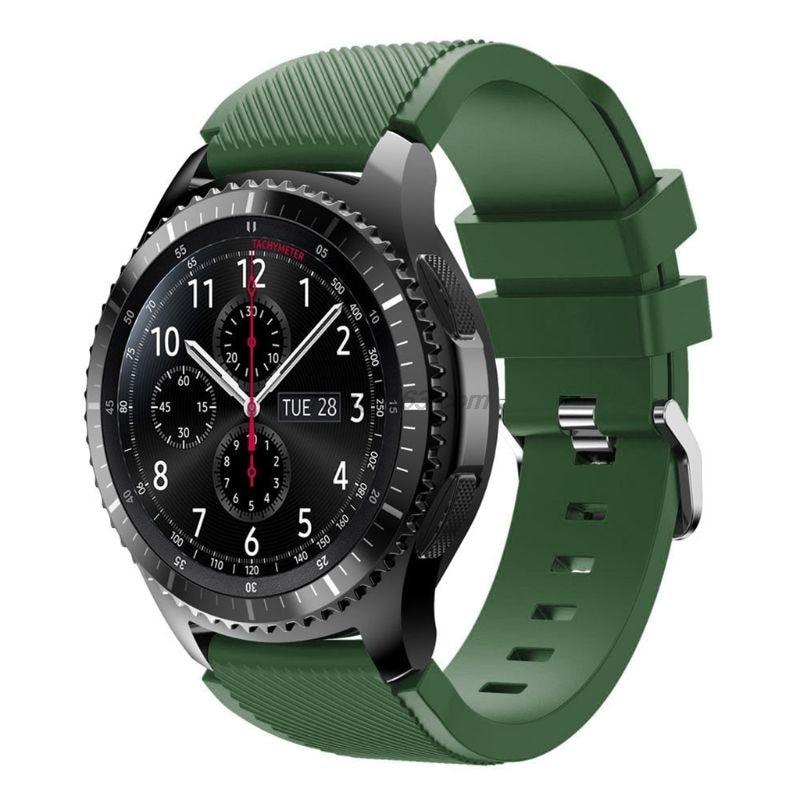 Silicone souple remplacement Bracelet de montre Bracelet de Sport montre Bracelet ceinture pour Samsung Galaxy montre 46MM/Samsung Gear S3/Samsung
