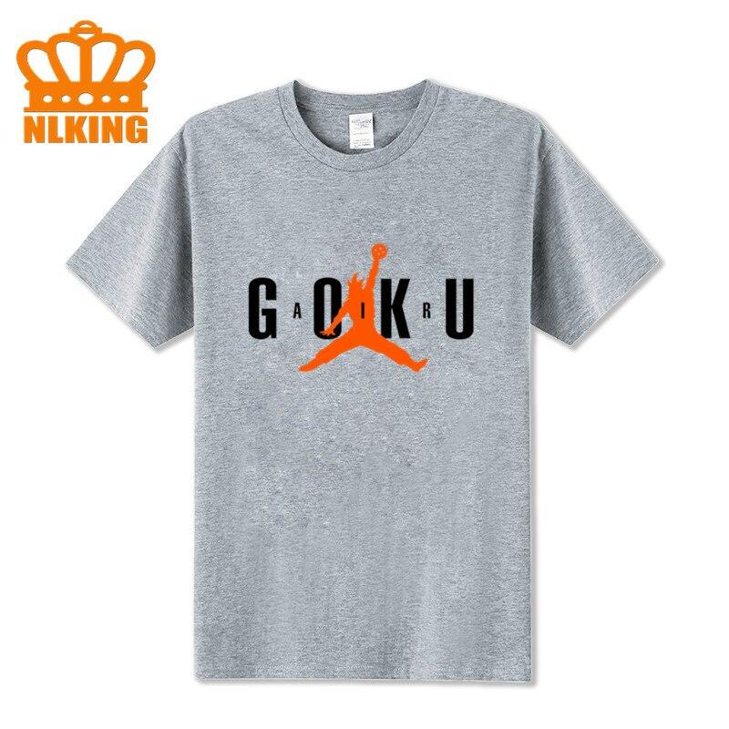 Camisetas Goku de Anime para hombre, camisetas de Goku de Dragon Ball Z, camisetas de algodón de manga corta a la moda para hombre, camisetas Air con figuras