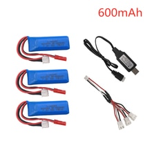 7.4V 600mAh Lipo Battery for WLtoys K969 K979 K989 K999 P929 P939 RC Car Parts 2s 7.4v Battery With