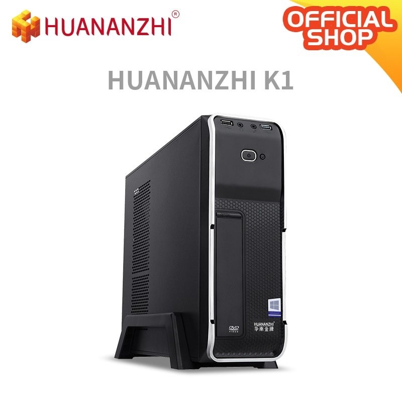 HUANANZHI K1 Office i5 MINI Desktop Computer cpu 2400 DDR3 1*8G  SSD 256G with wifi DVD High cost performance PC