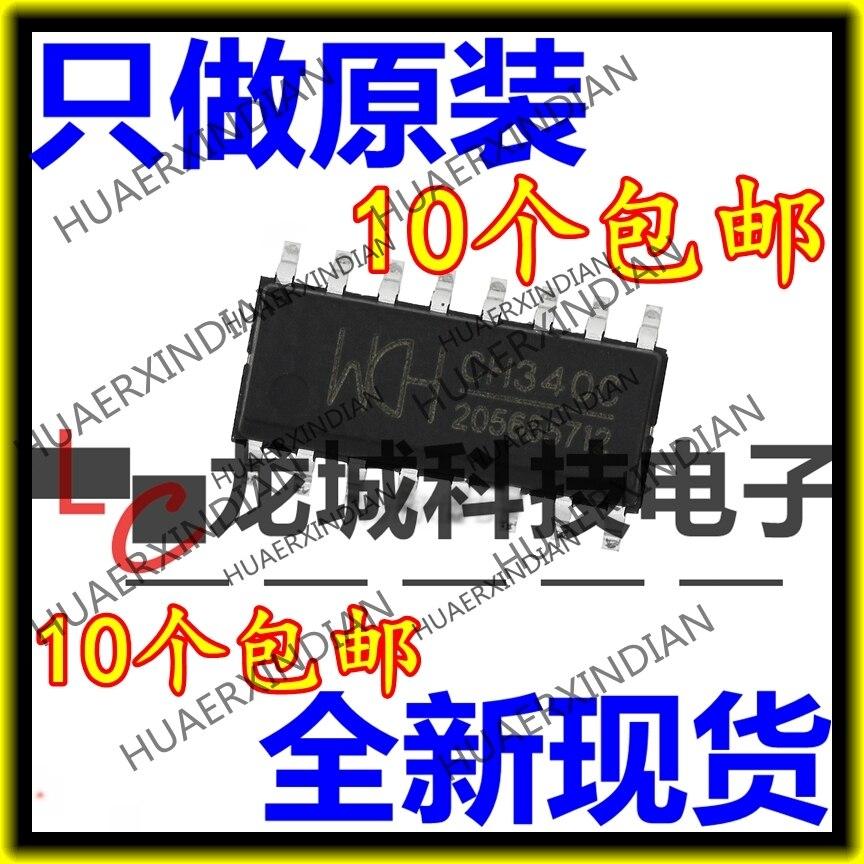 10 peças/lote novo 340-c   c ch340c usb wch sop-16 em estoque