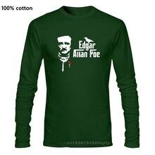 Décontracté populaire le corbeau Edgar Allan Poe hommes t-shirt hommes hauts t-shirt vente chaude mode O cou t-shirt