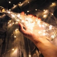led string wine bottle lights copper outdoor waterproof multicolor warm white for christmas party wedding decor battery operated