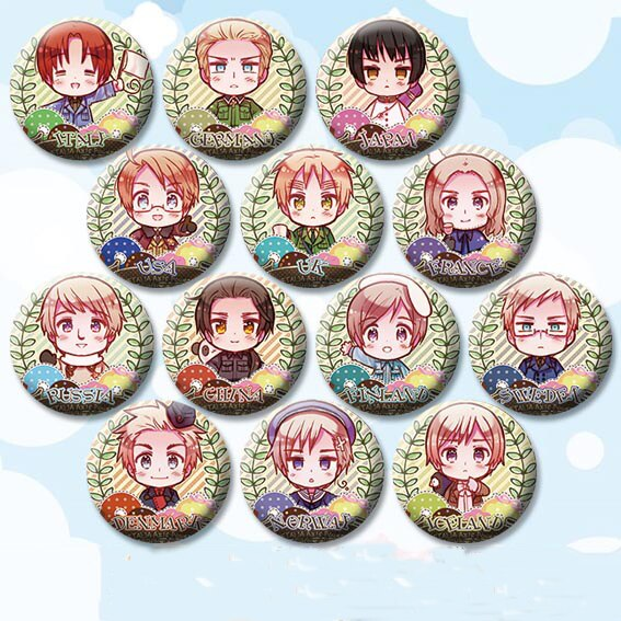 Anime Aixs de Hetalia insignia de iconos 58 mm broche