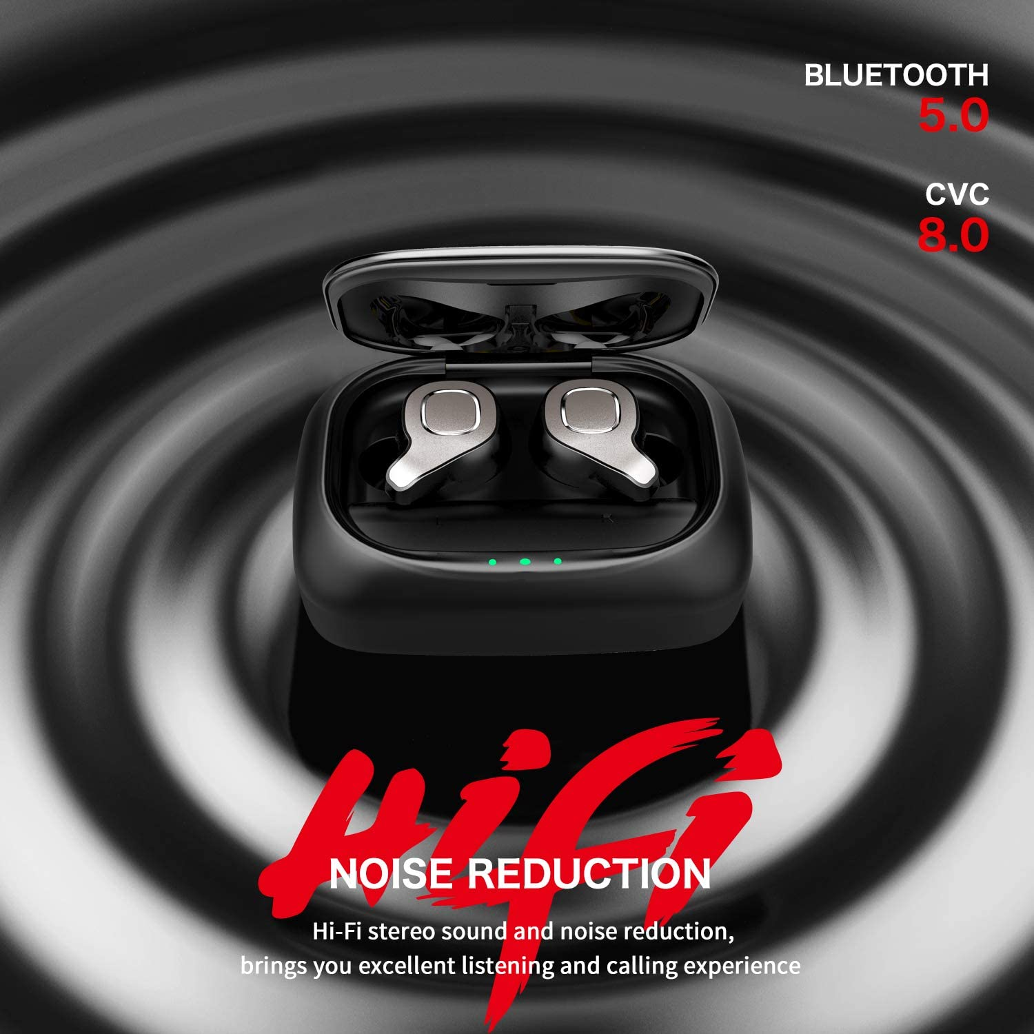TWS  Wireless Earphones Bluetooth Earbud with Mic Dual Connection Headset In-Ear Hifi Stereo Deep Bass enlarge