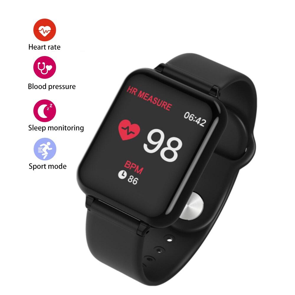 B57-reloj inteligente IP67 de hombre, pulsera inteligente de silicona con rastreador, reloj electrónico resistente al agua