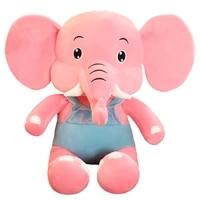 1pc dropshipping epacket shopify service elephant plush toy strap elephant doll soft body elephant plush toy appeaselike pillow
