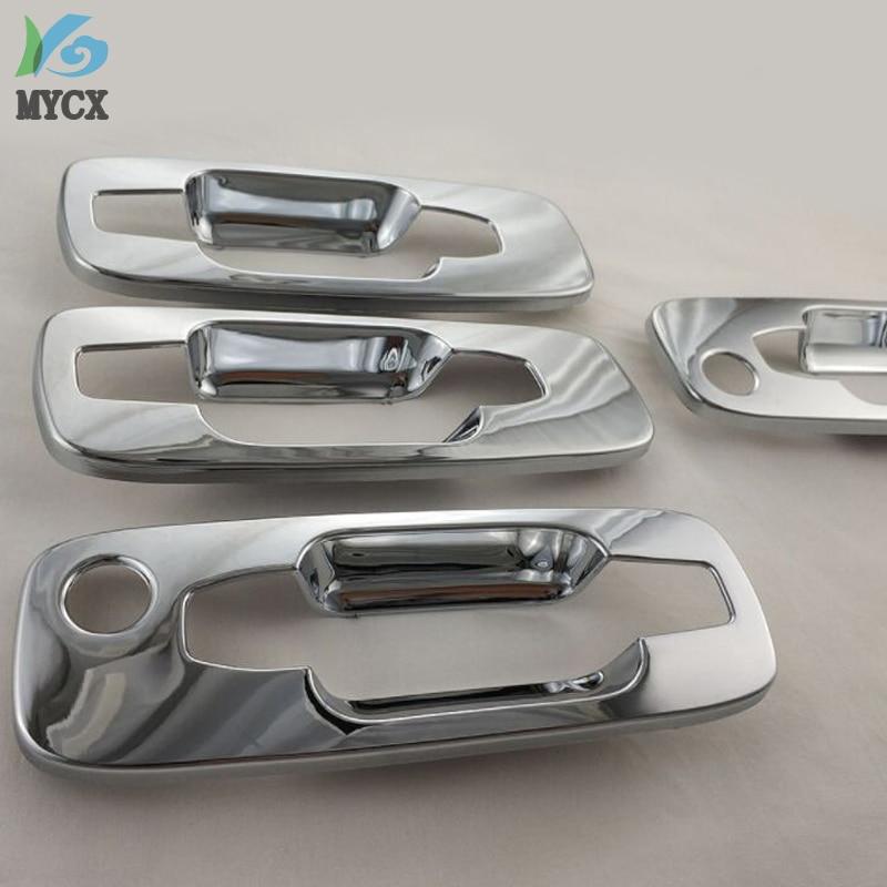 4 Uds ABS cromado de la manija de la puerta de cubiertas de molduras para Nissan X-Trail 2000-2010 T30 accesorios de modificación de coche