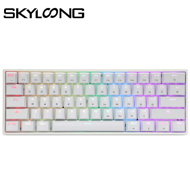 SKYLOONG GK61 Mini Portable 60% Gamer Mechanical Keyboard Wireless Bluetooth RGB Backlit Gaming Keyboard SK61 For Desktop iPad