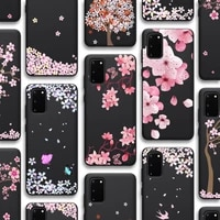 cherry blossoms case for samsung galaxy s21 a51 s20 a50 a71 a70 a12 a21s s10 s9 s8 a20 a30 s10e note 20 10 plus ultra lite tpu