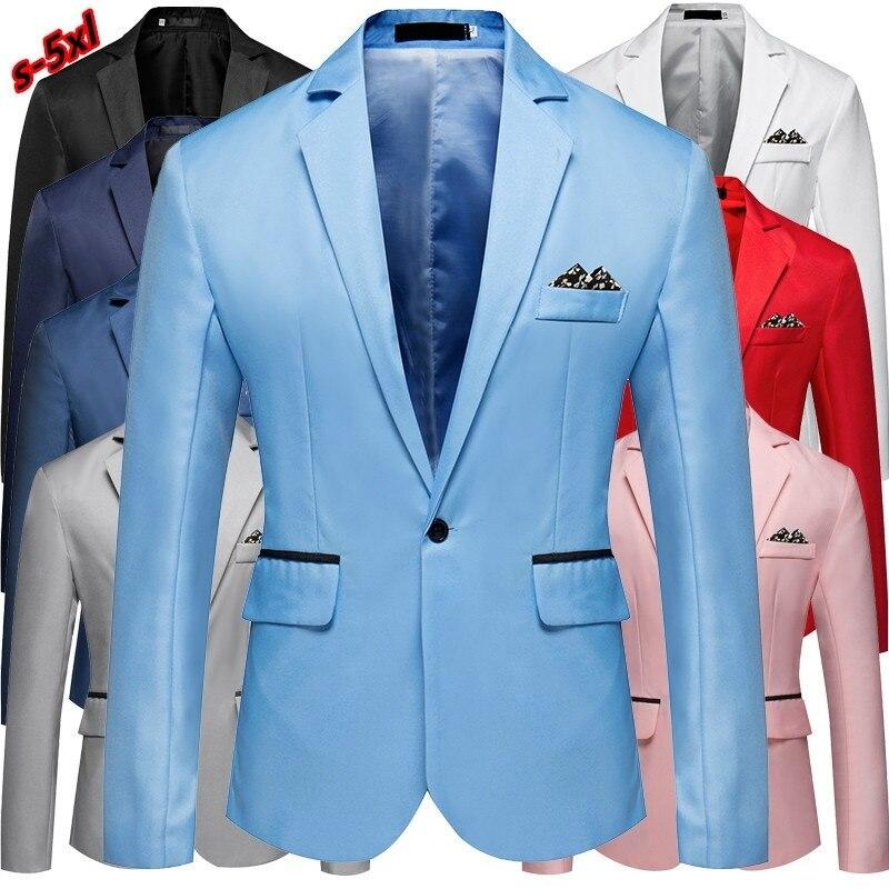 Homens de luxo Slim Fit Escritório Blazer Jaqueta Moda Mens Sólidos Paletó Casaco Business Casual Masculino Terno Casaco Vestido de Noiva completo